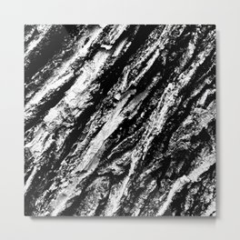 Black and White Bark Close Up Metal Print
