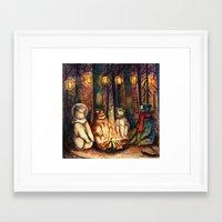 helen green Framed Art Prints featuring Camp Meeting By Helen Green by Bear Picnic