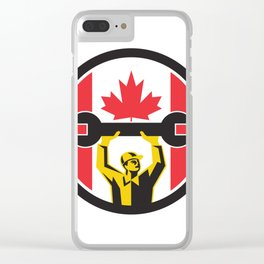 Canadian Mechanic Canada Flag Icon Clear iPhone Case