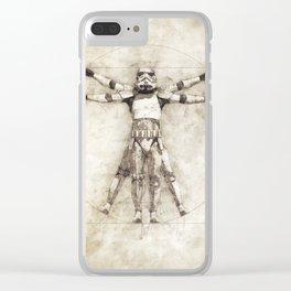 Da Vinci trooper Clear iPhone Case