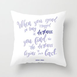 A court of mist and fury (purple) Throw Pillow