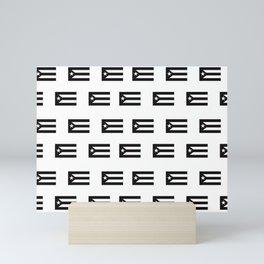 Puerto Rico Black Flag Pattern Mini Art Print