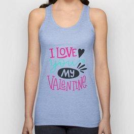 I Love You My Valentine Day Tshirt Light Background Unisex Tank Top
