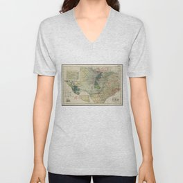 Vintage Map of The Texas Oil and Gas Fields (1920) Unisex V-Neck