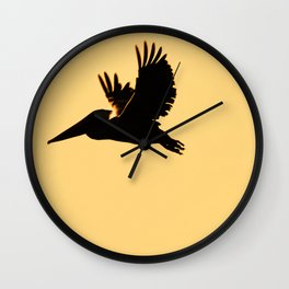 Bird - Brown Pelican - Study 1 Wall Clock