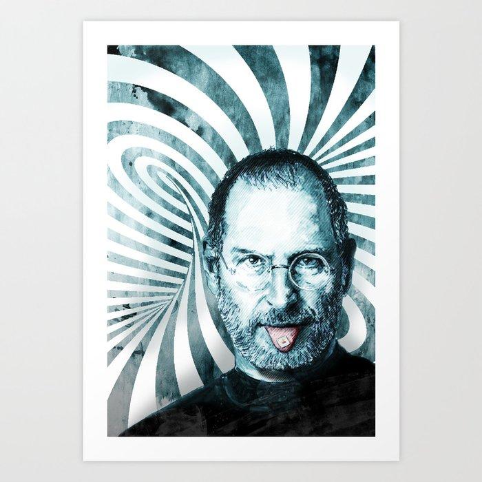 Steve Jobs Art Print By Michaelpfister