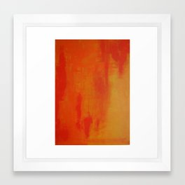 Orange Texture Framed Art Print