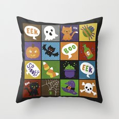 Halloween Doodles Throw Pillow
