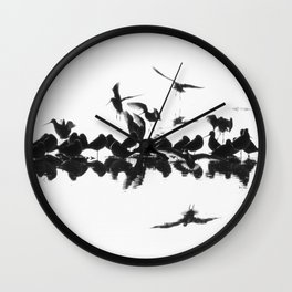 Long-billed Dowitchers Wall Clock