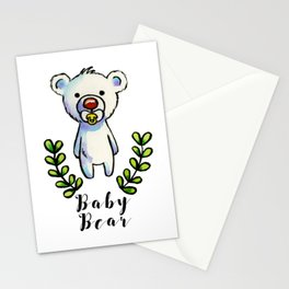 Baby Bear Ink and Watercolor Illustration Stationery Cards