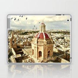 An aerial shot of the Parish Church of Saint Catherine, Zejtun Malta Laptop & iPad Skin