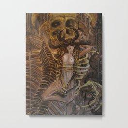 Skeleton Machine Metal Print