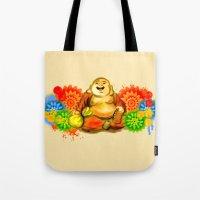 buddah Tote Bags featuring Buddah by Adaildo Neto