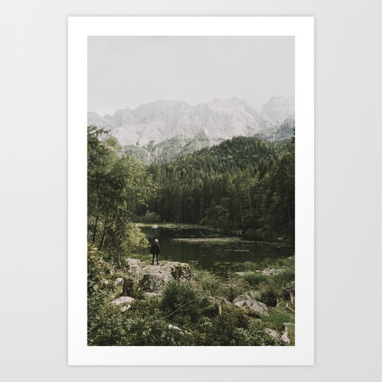 In silence - landscape photography Art Print