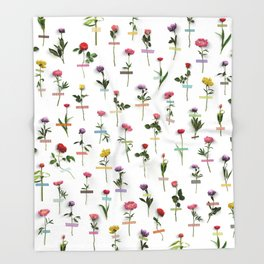 Bloom Where You Are Planted Throw Blanket