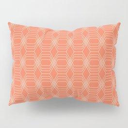 hopscotch-hex tangerine Pillow Sham