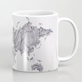 Whimsical Topography World Map Art Coffee Mug