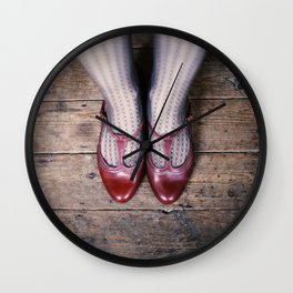 The Red Shoes Wall Clock