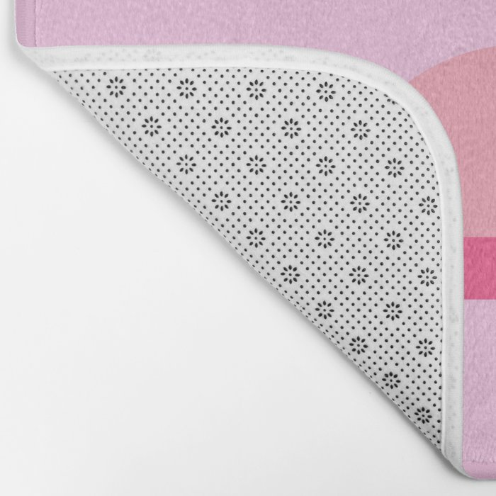 Geometric flamingo Bath Mat