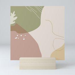 Organic natural seamless pattern #8 Mini Art Print
