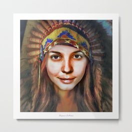 Loish Portrait Metal Print