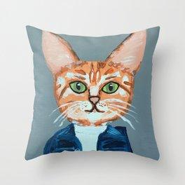 Cleo the Cat Throw Pillow
