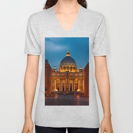 Papal Basilica of St. Peter in the Vatican Unisex V-Neck