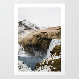 Skógafoss Art Print
