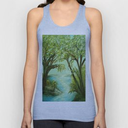 View from the River Bank Unisex Tank Top