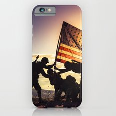 Soldiers Raising An American Flag At SunsetSoldiers Raisng An American Flag At Sunset iPhone 6s Slim Case