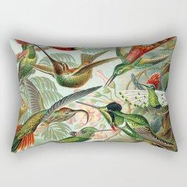 Vintage Hummingbirds Decorative Illustration Rectangular Pillow