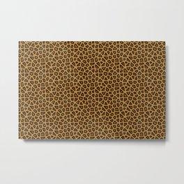 Leopard Skin Fur Pattern Metal Print