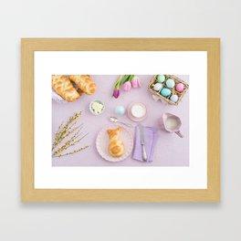 Easter breakfast Framed Art Print