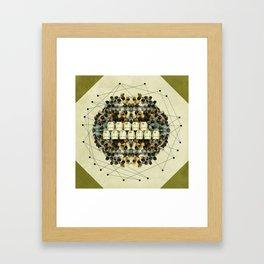 Human Network Framed Art Print