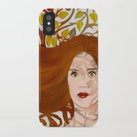 lydia martin iPhone & iPod Cases featuring Lydia Martin: Banshee Queen by reliand