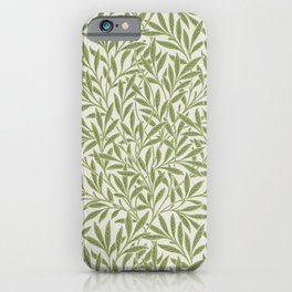Willow pattern by William Morris. Original from The Smithsonian Institutions. British textile art. iPhone Case