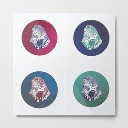 Gorillas Metal Print