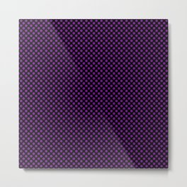 Black and Winterberry Polka Dots Metal Print