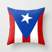 puerto rico Throw Pillows featuring Puerto Rico by McGrathDesigns