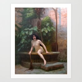 Truth Coming Out Of Her Well To Shame Mankind Jean-Leon Gerome Art Print