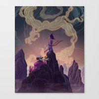 dragonball Canvas Prints featuring Dragonball - The Journey Begins by Kim Herbst
