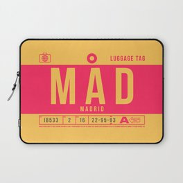 Luggage Tag B - MAD Madrid Barajas Spain Laptop Sleeve