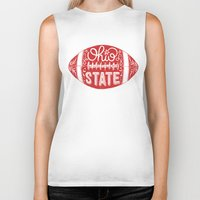 ohio state Biker Tanks featuring Ohio State Football by Kasi Turpin
