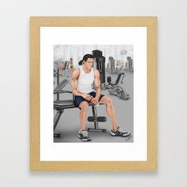 cross training Framed Art Print