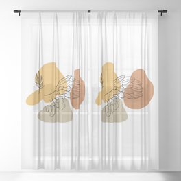 Antique Feeling #4 Sheer Curtain