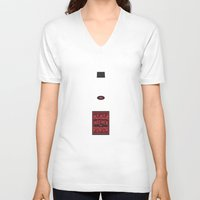 mad men V-neck T-shirts featuring Bottle Mad Men by Marco Recuero