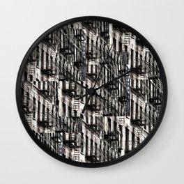 NYC Fire Escapes Wall Clock