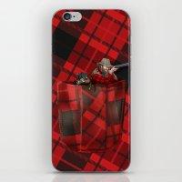 hunter iPhone & iPod Skins featuring Hunter by Piotr Burdan