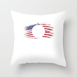 Volleyball Team Ball Game Spiking Action Sports Gift Volleyball USA America Flag Throw Pillow