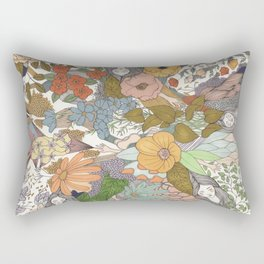 Falling Asleep in the Flowers Fine Art Print Rectangular Pillow